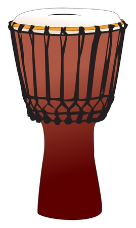 vectorized: Tambor de percusi�n vectorizada - djembem Gong
