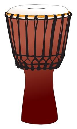 djembe: Vectorized percussion drum - djembem tam-tam