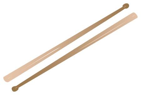 Gevectoriseerde stokken drum, kan volledig worden aangepast