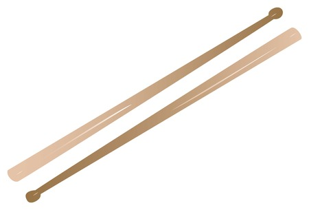 Vectorized drum sticks, can be fully scaled   Çizim