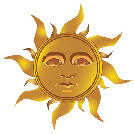 golden: Mayan - Inca type of golden sun , fully vectorized