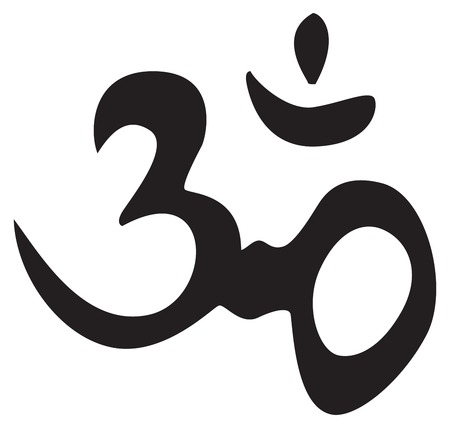 Eternal hindu symbol OM. Sign, symbol, for tattoo or artwork, vector.   Vector