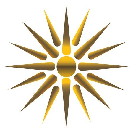 vectorized: Golden sun, fully vectorized Illustration