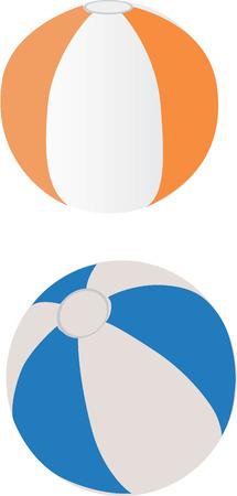 balon voleibol: Ilustraci�n vectorizada de globos de playa.   Vectores