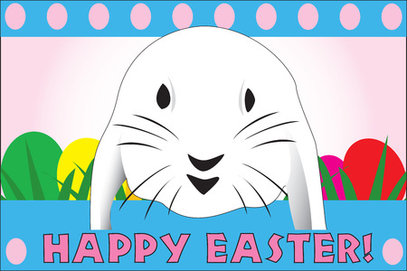 Cute Easter rabbit, great for a quick card or E-Card, fully vectorized, can be easily modified