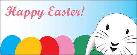ecard: Carino coniglio di Pasqua, ideale per un veloce scheda o E-card, completamente vettorizzati, possa essere facilmente modificati.
