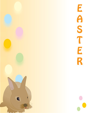 ecard:  Cute Easter rabbit, great for a quick card, Paper or E-Card, fully vectorized, can be easily modified