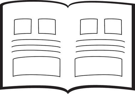 ol: ol of an open book. Great for logos Illustration