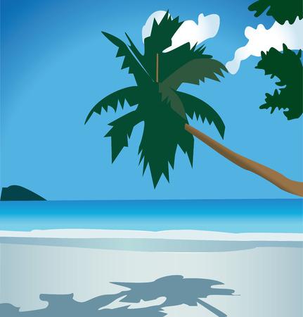 美しい自然、夏の休暇、楽園の小さな作品