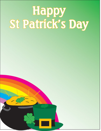 Happy St-Patrick themed background Illustration in vector Stock Vector - 6161976