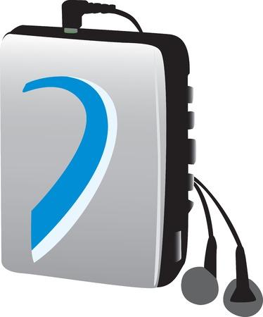 electronic music: Lettore di musica elettronica stile vecchio completamente vectorized.