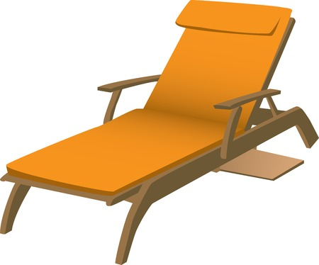 Illustration of an orange lounge chair isolated against a white background. Stock Vector - 5644482