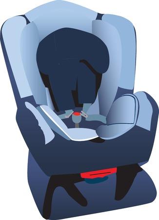Car seat illustration Stock Vector - 5644493