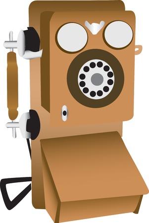 오래 된 전화 그림