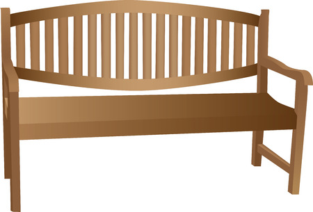 Illustrated wooden bench Stock Vector - 7837855