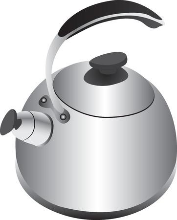 prata: Retro silver kettle Ilustra��o