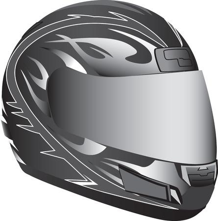 motorradhelm: Motorrad-Helm Illustration