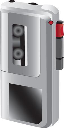 Small hand-held sound recorder Illustration