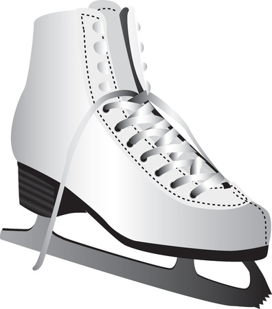 isolated: Ice skate