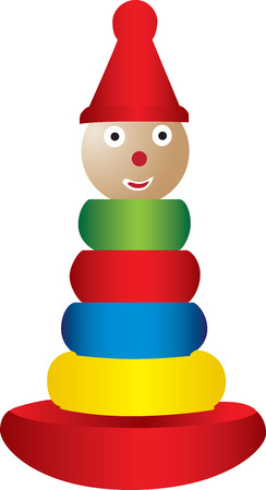 stacking: An illustration of a kids stacking toy. Illustration