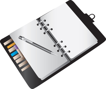 diary: A blank notebook planner background.