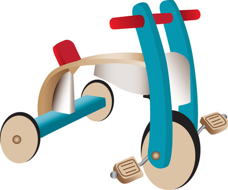 one wheel bike: Wooden toy tricycle