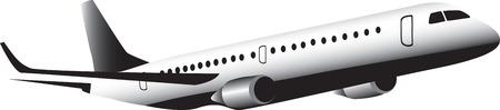 飛行のジェット機  イラスト・ベクター素材