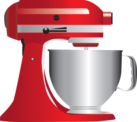 A red stand mixer isolated on white. Stock Vector - 7837947