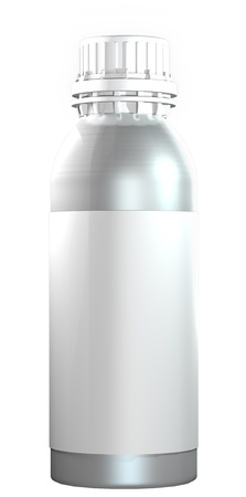 twist: Aluminium or steel bottle with plastic twist cap Stock Photo