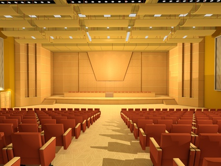 seating furniture: Empty Conference hall or room Stock Photo