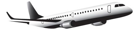 Jet aircraft in flight Иллюстрация