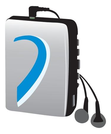 electronic music: Vecchio giocatore di musica elettronica a (Walkman)