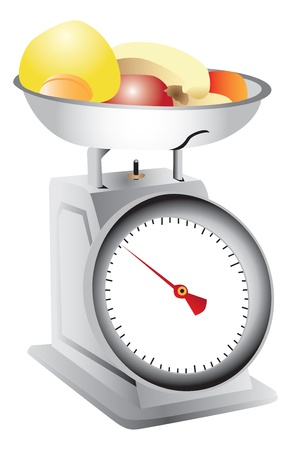 Fruit on weighing scales Stock fotó - 13650666