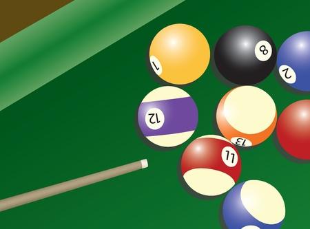 billiard balls: Pool table and balls