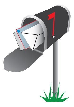 メールボックスの図  イラスト・ベクター素材