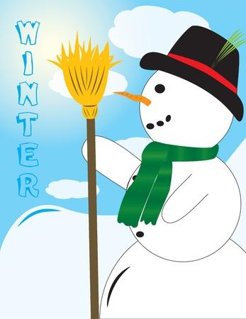 Cute looking Snowman