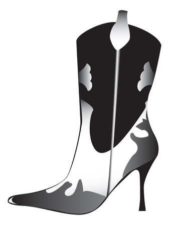 high heeled: High heeled womans boot Illustration