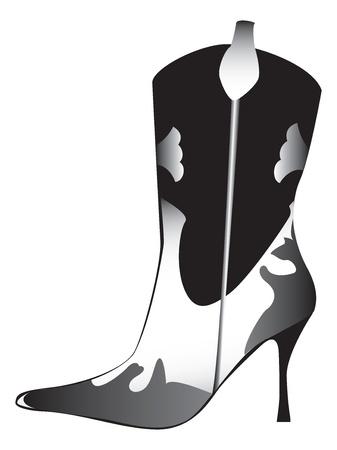 high heeled: High heeled womans boot Illustration