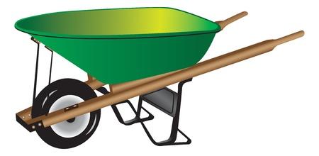 Green wheelbarrow