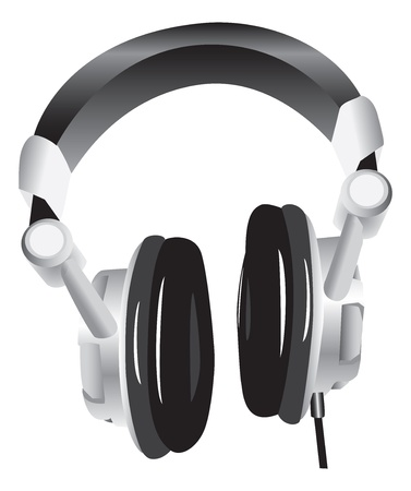 Modern headphones Stock fotó - 13650587