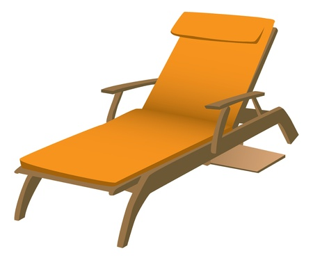 computer chair: Lounge Chair Illustration