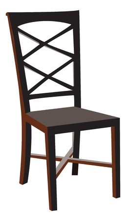 vectorized: Vectorized wooden chair Illustration