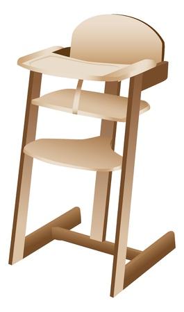 high chair: Beb� o ni�o peque�o comedor de beb�