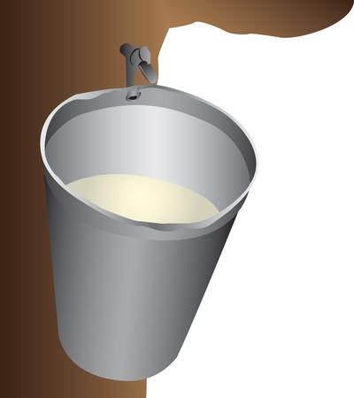 seau d eau: Seau d'eau d'�rable Illustration