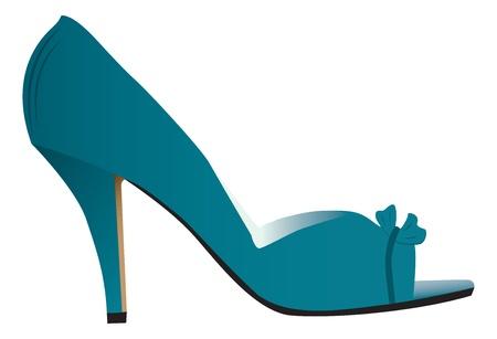 Vrouw hoge hakken schoen Stock Illustratie