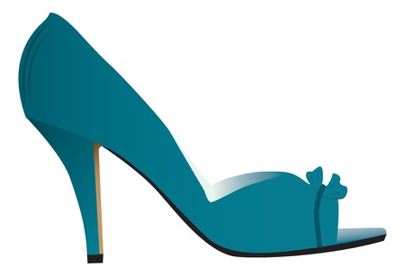 toes: Woman high heeled shoe Illustration