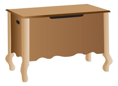 Wooden storage cabinet Stock Vector - 13650537