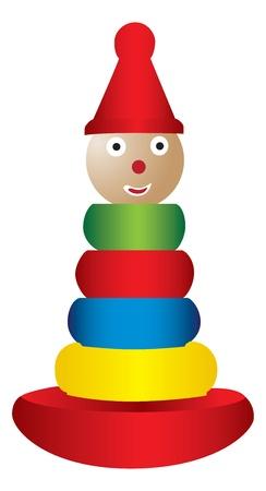 Stapelen speelgoed illustratie Stock Illustratie