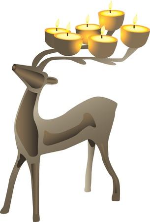 Deer shaped candelabra Stock Vector - 13651027