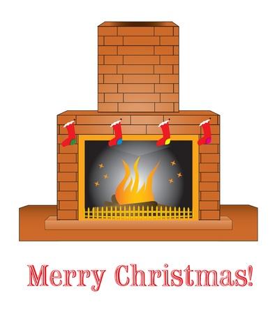 brick: Brick fireplace 向量圖像